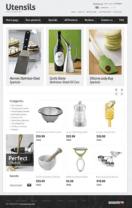 ZenCart Template 36965 Main Page Screenshot