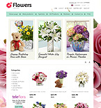 Flowers ZenCart  Template 36966