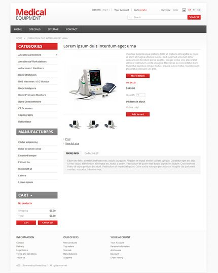 ADOBE Photoshop Template 36974 Home Page Screenshot