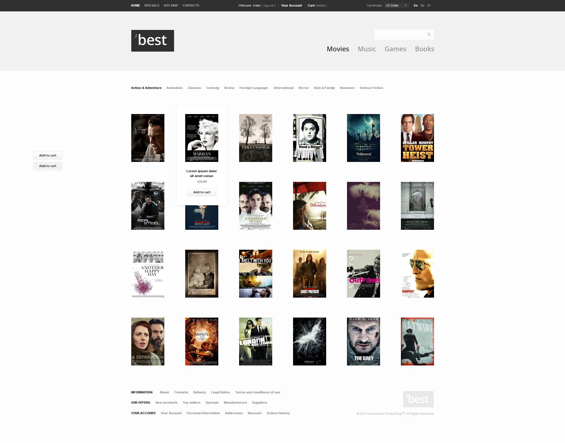 Entertainment portal