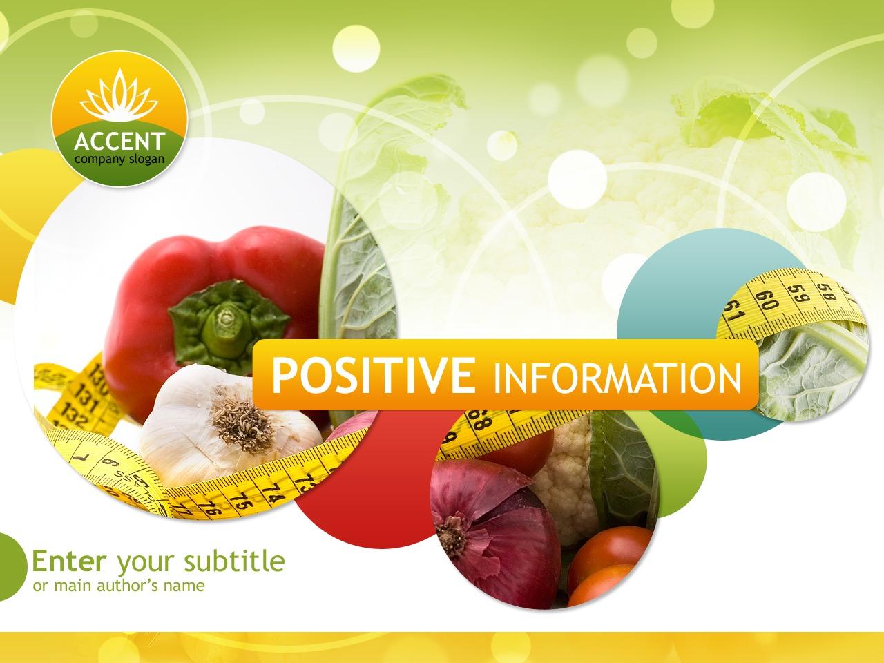 PowerPointmall för viktminskning #36911 - skärmbild