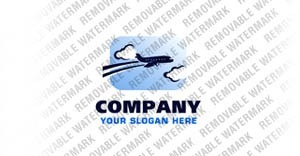 Private Airline Logo Template vlogo