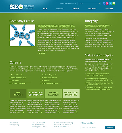 Template 37014 ( Company Page ) ADOBE Photoshop Screenshot