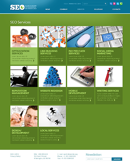 Template 37014 ( Services Page ) ADOBE Photoshop Screenshot