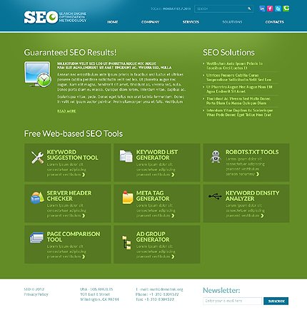 Template 37014 ( Solutions Page ) ADOBE Photoshop Screenshot
