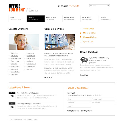 Template 37015 ( Services Page ) ADOBE Photoshop Screenshot