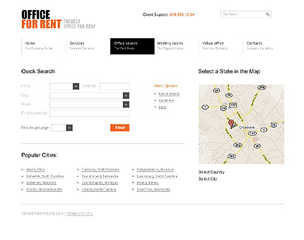 Template 37015 ( Office Search Page ) ADOBE Photoshop Screenshot