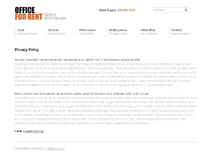 Template 37015 ( Privacy Policy Page ) ADOBE Photoshop Screenshot