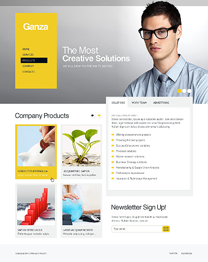 Template 37016 ( Products Page ) ADOBE Photoshop Screenshot