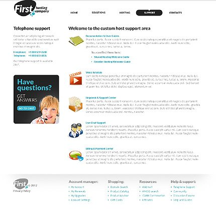 Template 37017 ( Support Page ) ADOBE Photoshop Screenshot