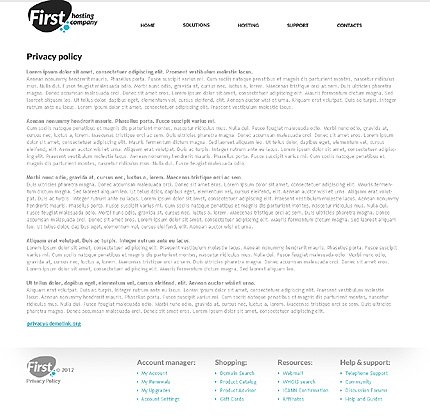 Template 37017 ( Privacy Policy Page ) ADOBE Photoshop Screenshot