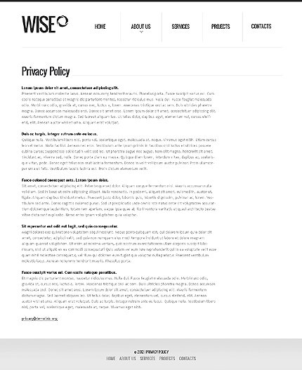 Template 37020 ( Privacy Policy Page ) ADOBE Photoshop Screenshot