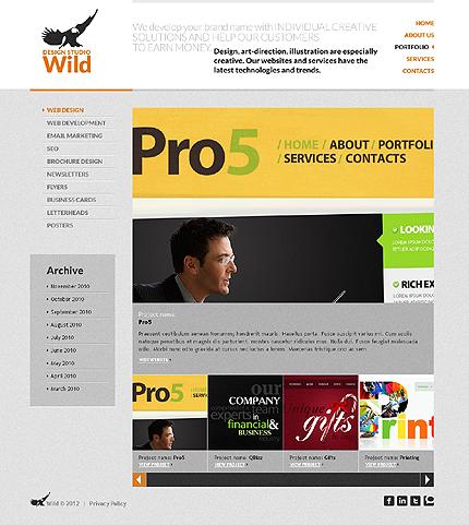 Template 37022 ( Portfolio Page ) ADOBE Photoshop Screenshot