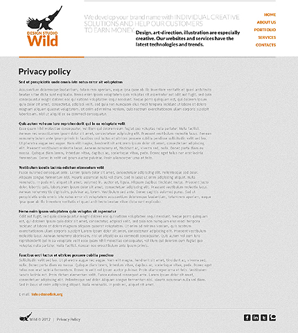 Template 37022 ( Privacy Policy Page ) ADOBE Photoshop Screenshot