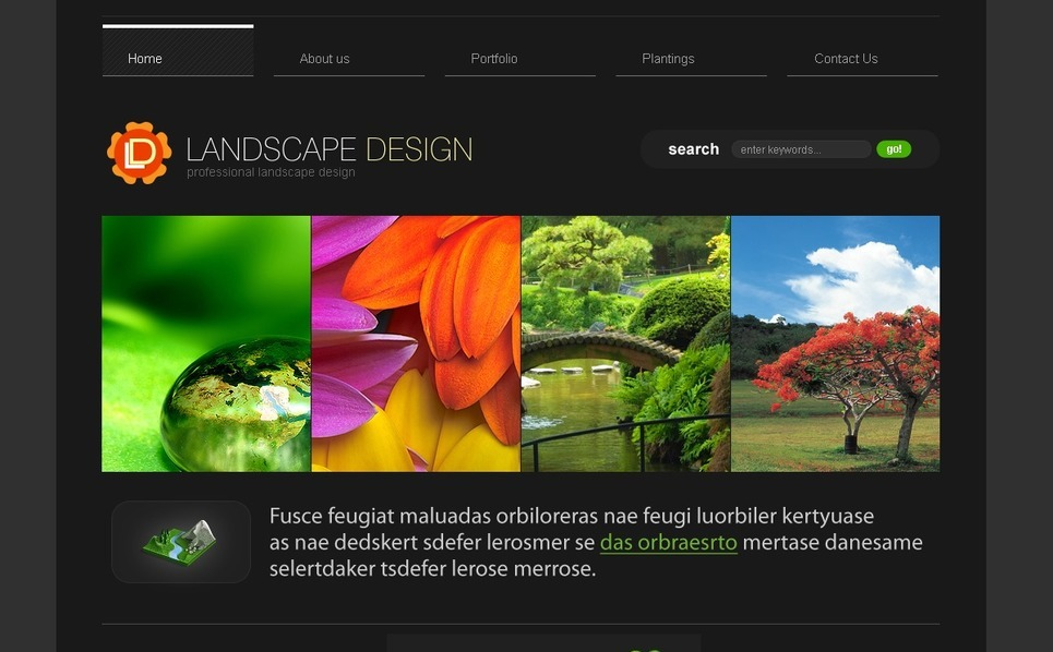Template Photoshop  para Sites de Design de Paisagem №37039 New Screenshots BIG