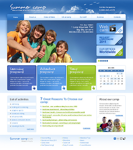 PSD макет сайта №37040