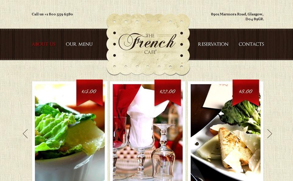 Szablon PSD #37041 na temat: restauracja francuska New Screenshots BIG