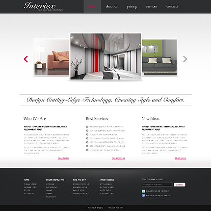 ADOBE Photoshop Template 37044 Home Page Screenshot