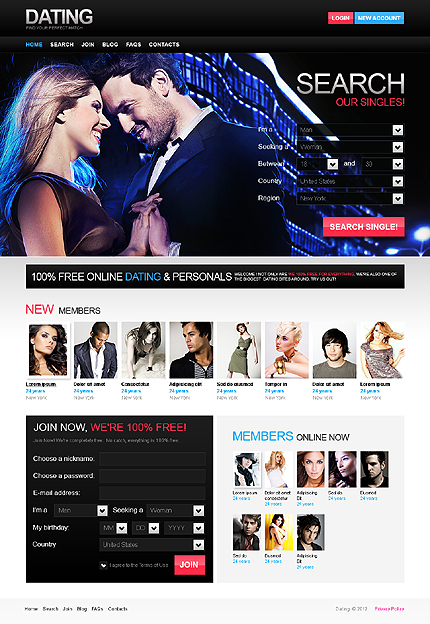 PSD макет сайта №37047