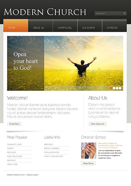 ADOBE Photoshop Template 37048 Home Page Screenshot