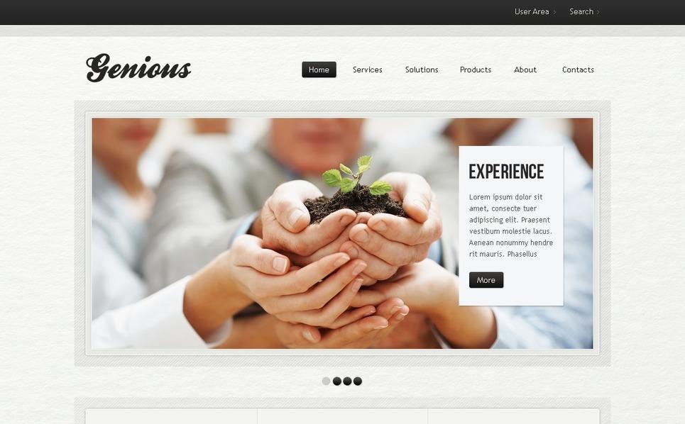 PSD шаблон №37049 на тему Бизнес и услуги New Screenshots BIG