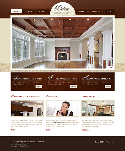 ADOBE Photoshop Template 37050 Home Page Screenshot