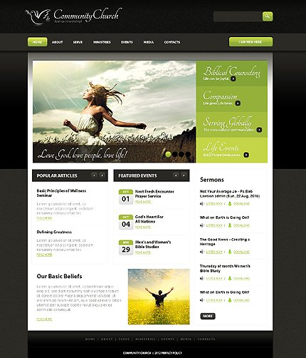 ADOBE Photoshop Template 37051 Home Page Screenshot