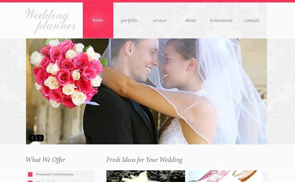 Template Photoshop  para Sites de Organizadora de casamento №37054 New Screenshots BIG