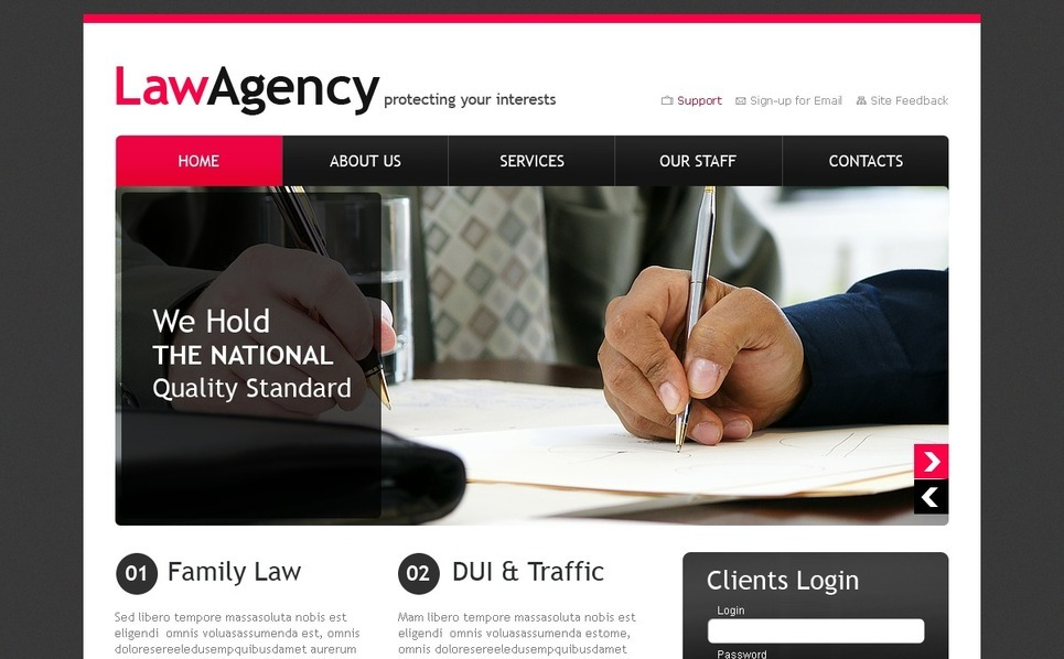 Hukuk Firması  Psd Şablon New Screenshots BIG