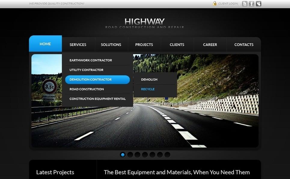 PSD шаблон на тему технічне обслуговування New Screenshots BIG