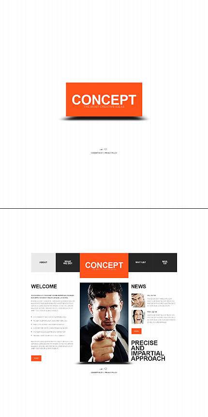 ADOBE Photoshop Template 37061 Home Page Screenshot
