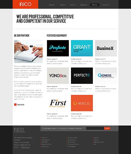 Template 37068 ( Partners Page ) ADOBE Photoshop Screenshot