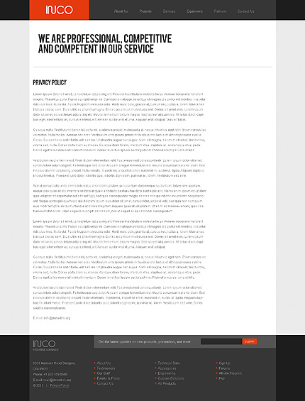 Template 37068 ( Privacy Policy Page ) ADOBE Photoshop Screenshot