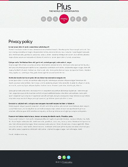 Template 37069 ( Privacy Policy Page ) ADOBE Photoshop Screenshot