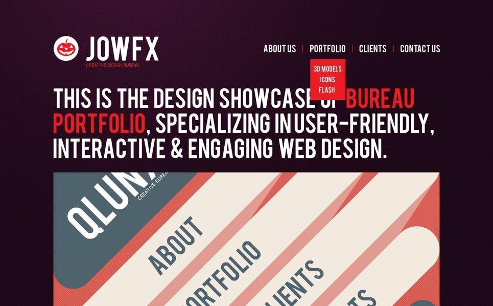 HTML шаблон №37076 на тему  студии дизайна New Screenshots BIG