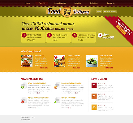 Template 37077 ( About Us Page ) ADOBE Photoshop Screenshot