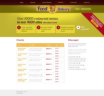 Template 37077 ( Price List Page ) ADOBE Photoshop Screenshot