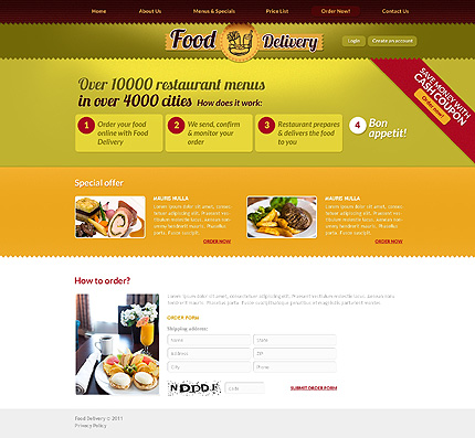 Template 37077 ( Order now Page ) ADOBE Photoshop Screenshot