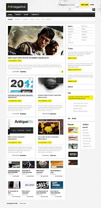 Drupal Template 37082 Main Page Screenshot