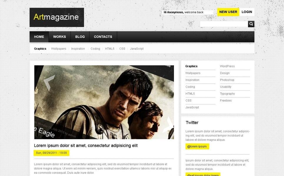 Drupal Vorlage für Kunst  New Screenshots BIG