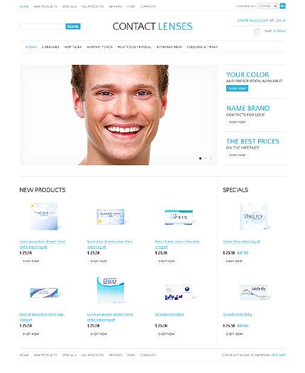 ZenCart Template 37089 Main Page Screenshot