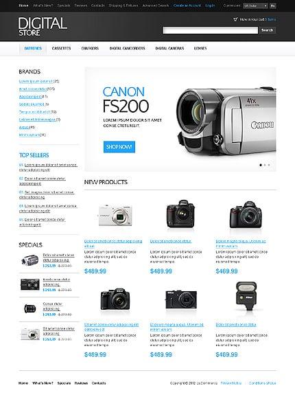 osCommerce Template 37092 Main Page Screenshot