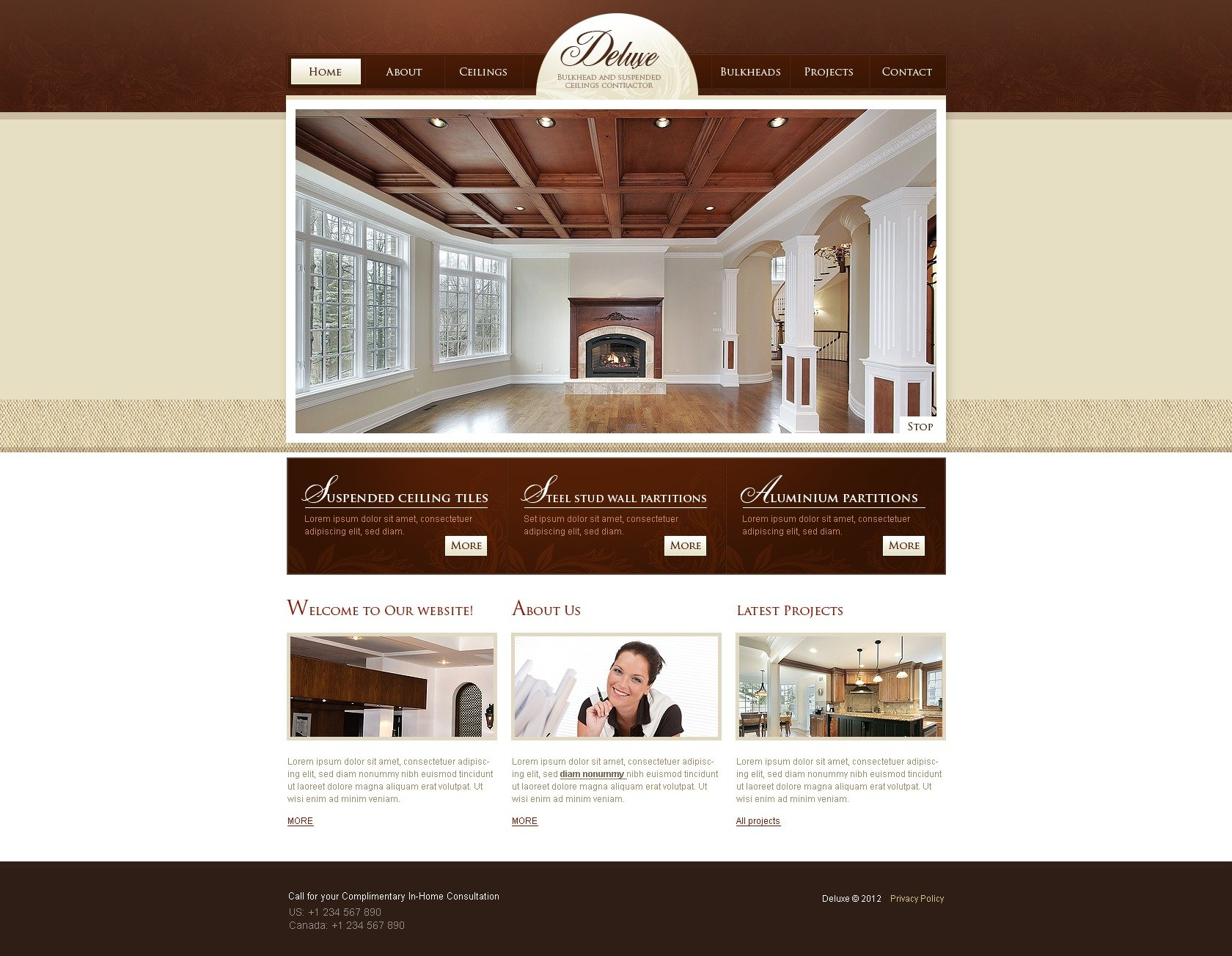 electrical contractor website template
