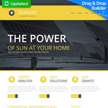 Solar Website Template for Solar Panel Producers