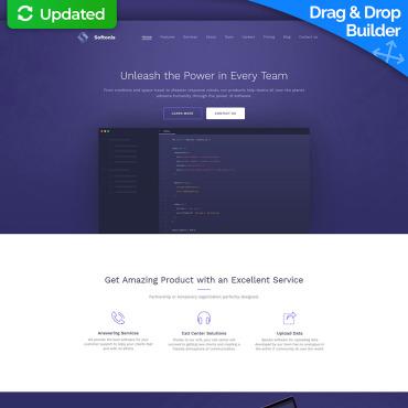 Software Website Templates - Software Company Design - MotoCMS