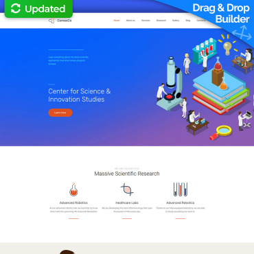 Academic Website Builder | Academic Templates | MotoCMS