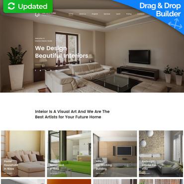 Website builder templates cms website templates motocms interior website design template for interior studio image 63460 maxwellsz