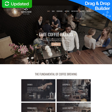 cafe website design template for coffee house image 63465