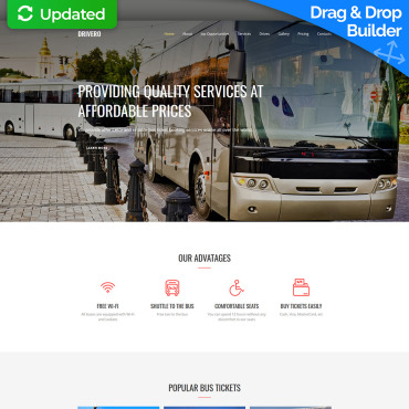 Transport Company Website Template for Logistics