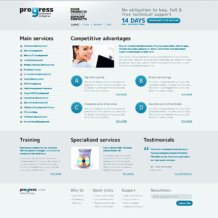 Template 37100 ( Services Page ) ADOBE Photoshop Screenshot